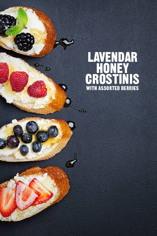lavendar honey crostini via designlovefest