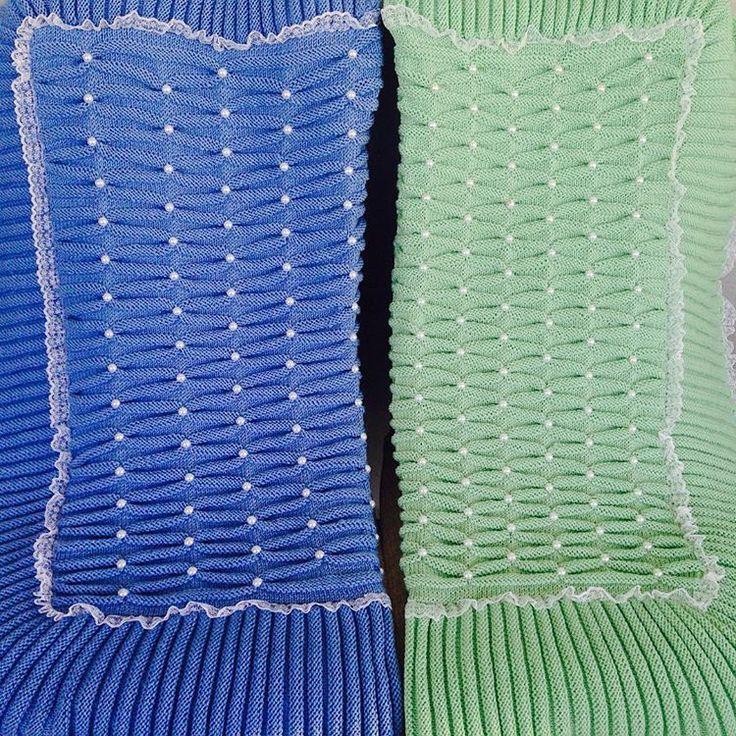 #battaniye #bebek#örgü #knittig#yeni #çeyiz #mavi#yeşil#yenibutti