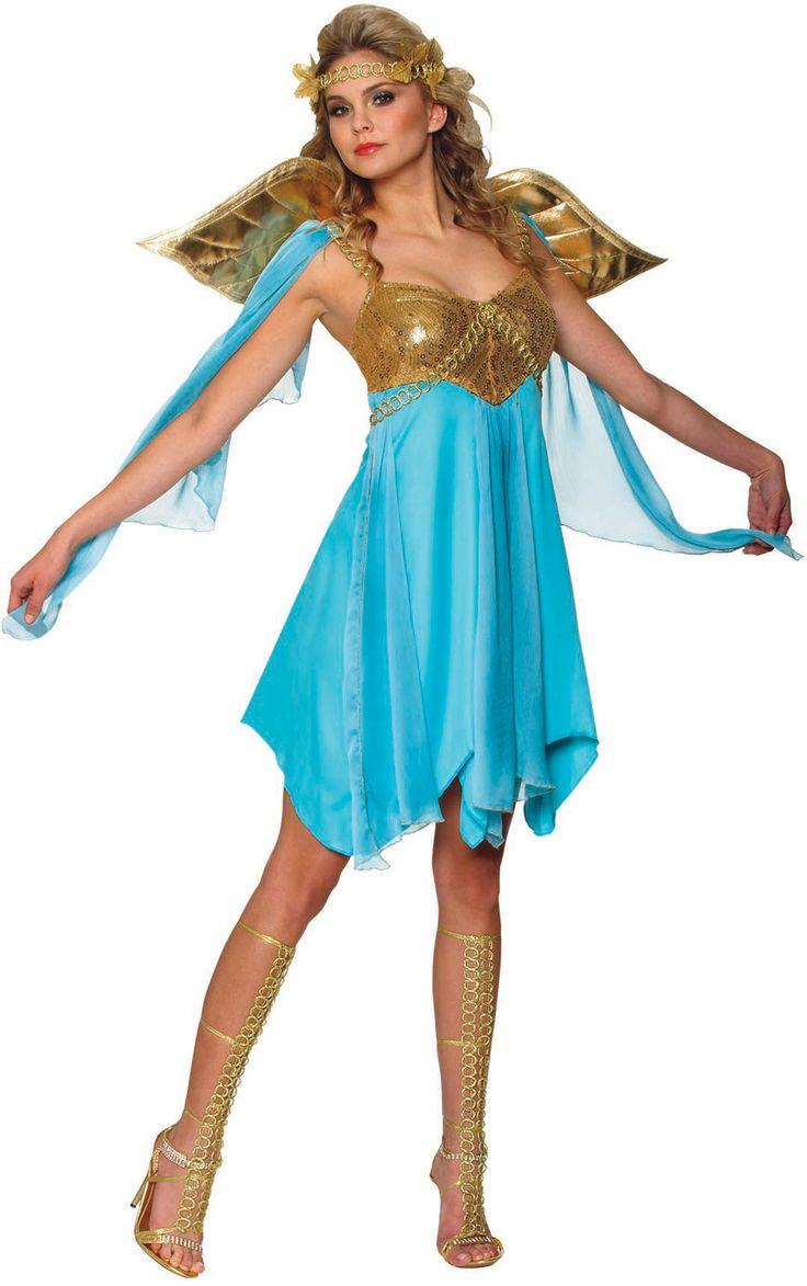 Sexy Victory Greek Goddess Costume - Mr. Costumes