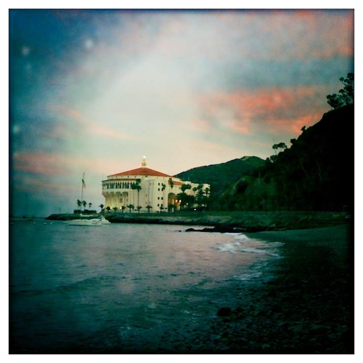 Catalina Island Beach: The Casino As Seen From Descanso Beach. Catalina Island