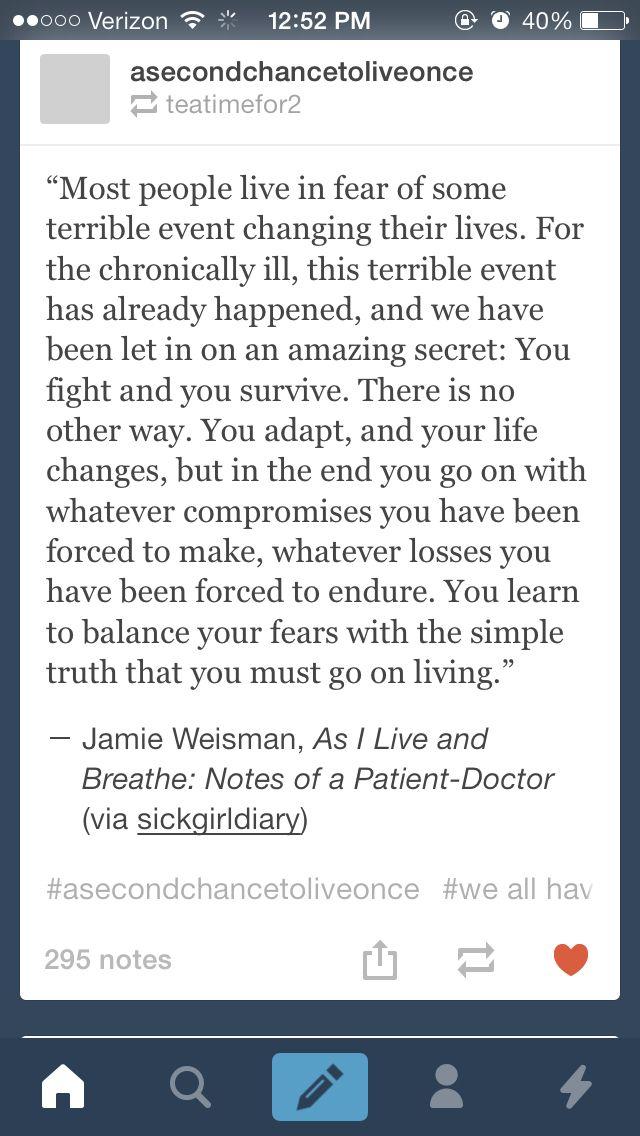 Chronic illness.