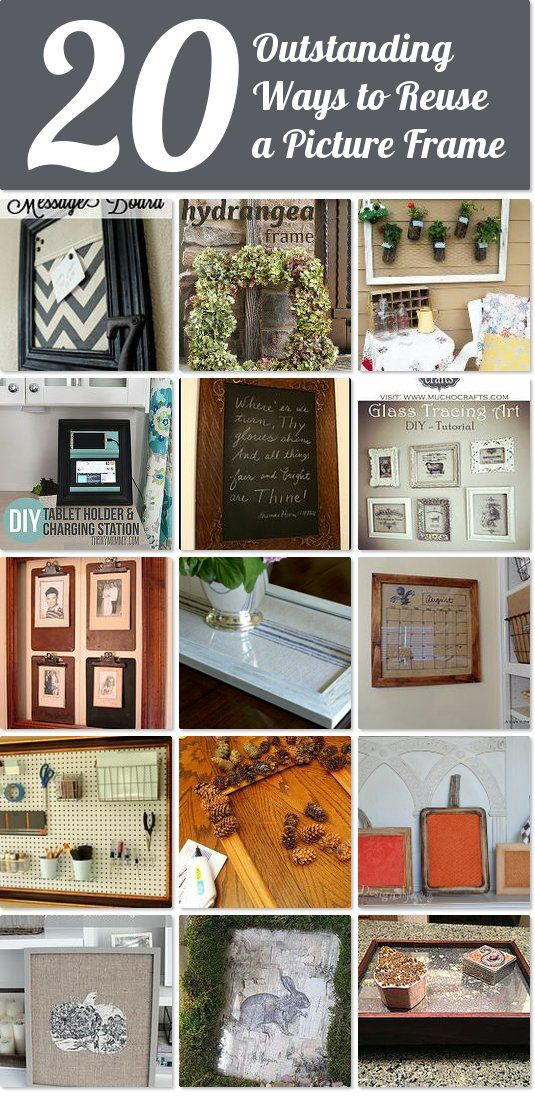 20+ outstanding ways to reuse a picture frame | Hometalk