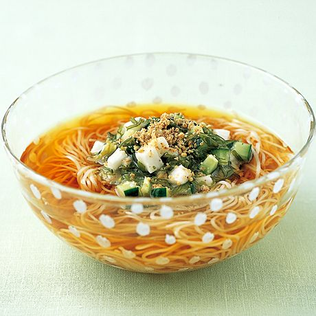ねばねばそうめん   広沢京子さんのそうめん・ひやむぎの料理レシピ   プロの簡単料理レシピはレタスクラブニュース