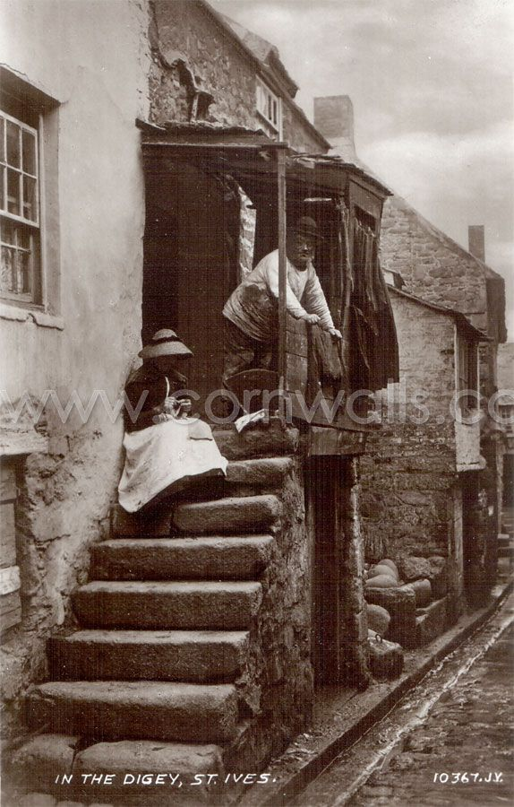 The Digey in St Ives' Down-along district. Taken in the 1890s