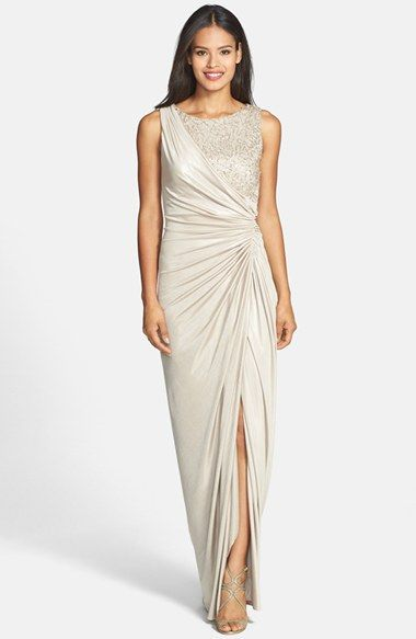 Adrianna Papell Sequin Lace & Jersey Gown available at #Nordstrom