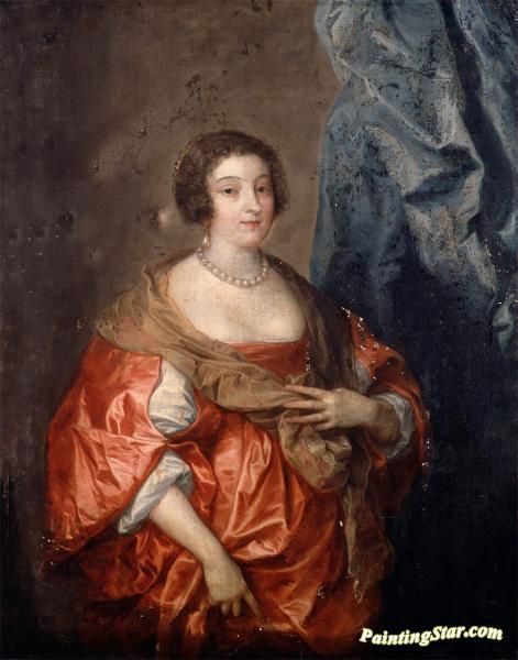 Portrait of a lady Artwork by Anthony van Dyck Hand-painted and Art Prints on canvas for sale,you can custom the size and frame