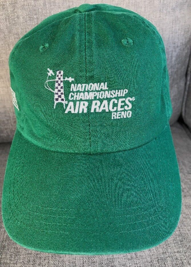 6396d628e4a National Championship Air Races Reno Nevada Green Snapback Cap Hat Aviation
