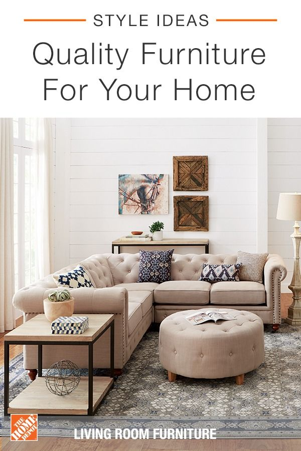 The Home Depot Has A Wide Assortment Of Interior Furniture From Hall Trees To Sofas And Beds Sho Sectional Sofas Living Room Chesterfield Sectional Furniture