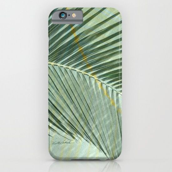 Flash Flood Warnings iPhone & iPod Case by Vikki Salmela, #tropical #rainforest #stormy #palm #leaf design in #green. Perfect for #phone protection with style! #Travel #office #home #school #gift, or accessorize with other coordinating products.