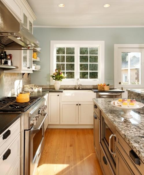Inspiration Kitchen   Wall Color, White Cabinets, Gray Backsplash