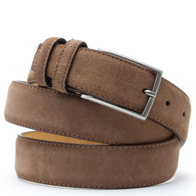 Suede riem: Cappuccino Brown by ColorMeSocks™