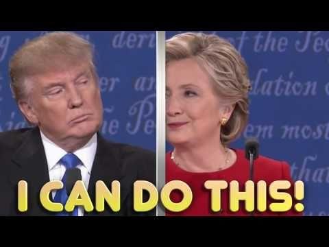 Donald Trump Vs Hillary Clinton- Lip Reading Version Of Presidential Debate - YouTube