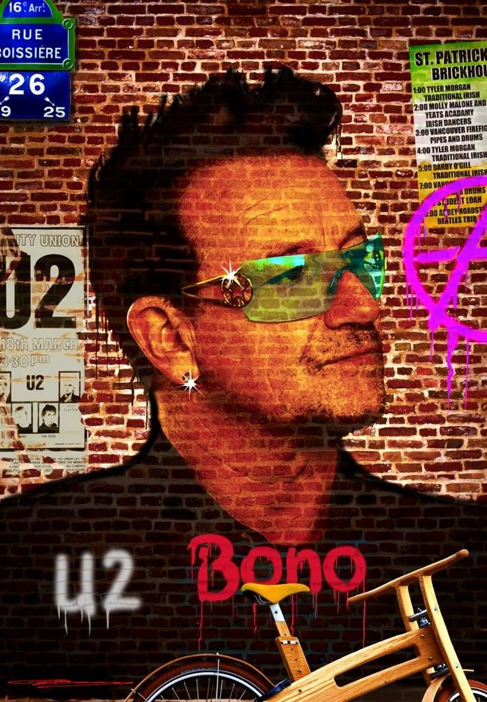 #Bono on the Wall - #TonnyBaars - Now in the #Expooze store in #Liquidgloss