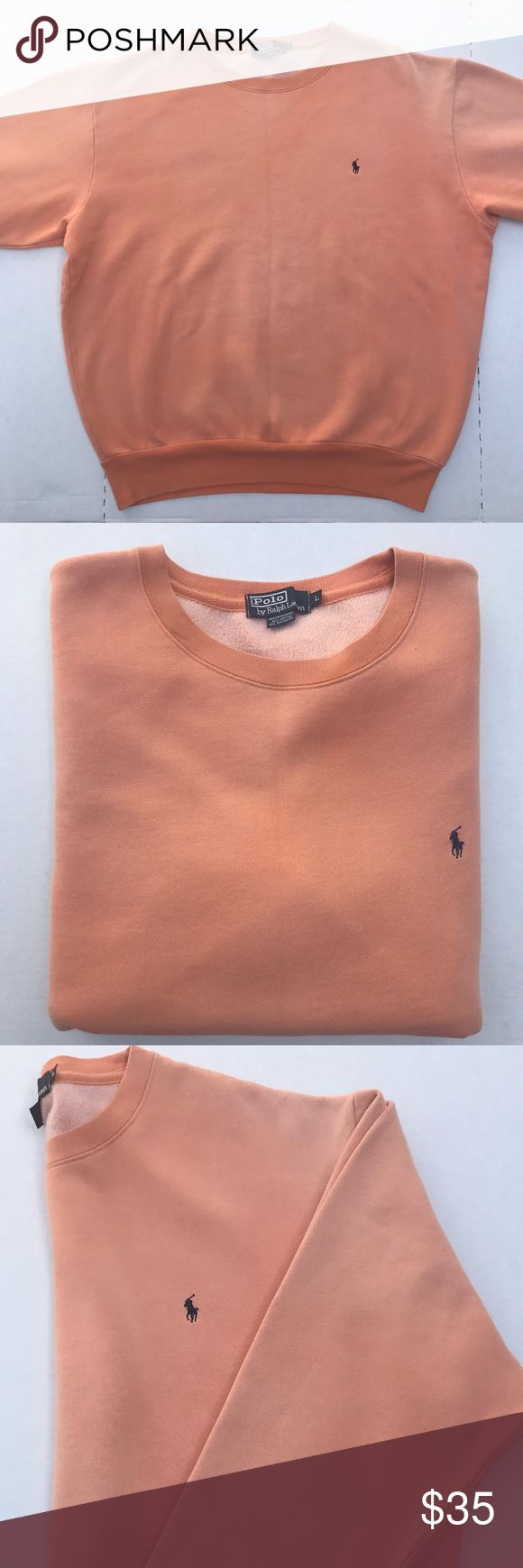 Polo Ralph Lauren Crewneck Super comfortable Polo sweatshirt in like a salmon colourway! Very nice! Polo by Ralph Lauren Shirts Sweatshirts & Hoodies