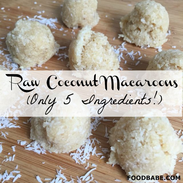 Raw Coconut Macaroons (Only 5 Ingredients!) - Healthy, fast and satisfying dessert.