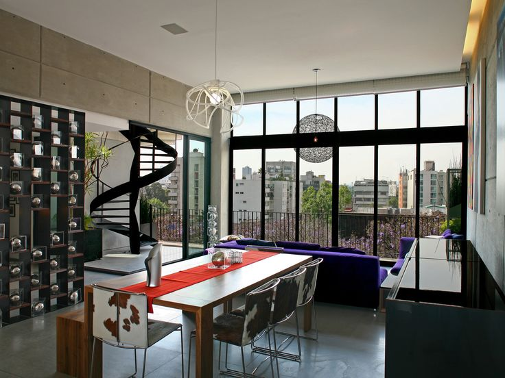 Dining + sitting area. | Living Spaces | Pinterest