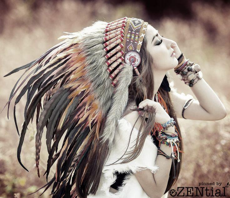 boho feathers gypsy spirit nativ pinterest indianerin indianer kost m selber machen. Black Bedroom Furniture Sets. Home Design Ideas