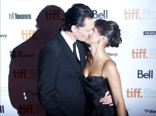 Photo of Tom and Susannah Fielding at the TIFF 2011 Deep Blue Sea Premier for fans of Tom Hiddleston.