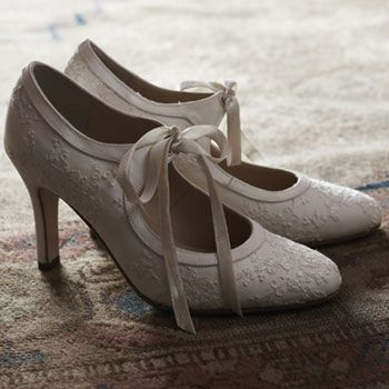 Vintage wedding shoes.
