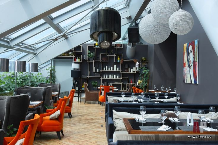 Фото интерьера лаунжа ресторана в стиле фьюжн