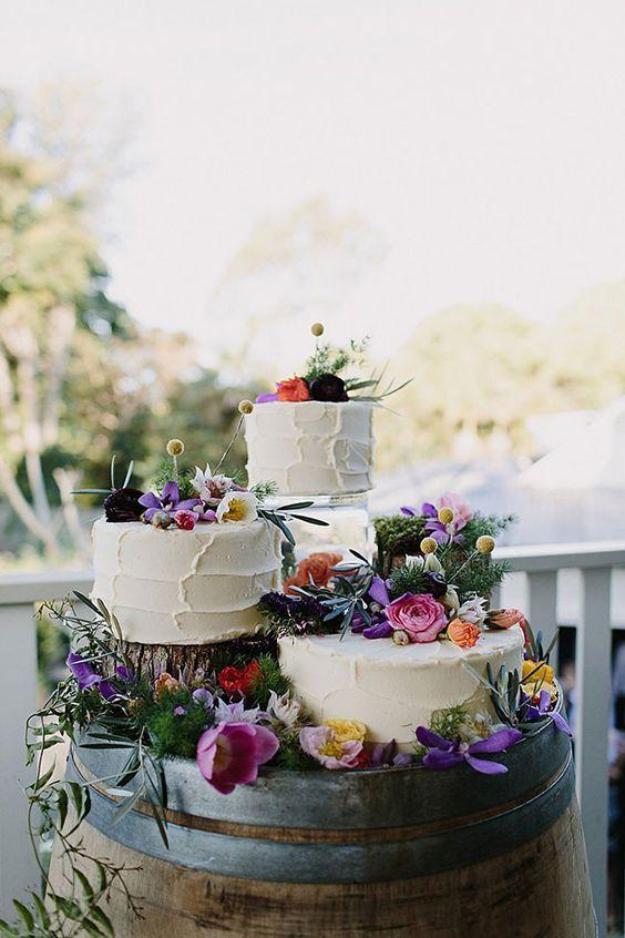 22 bohemian stijl trouwtaarten
