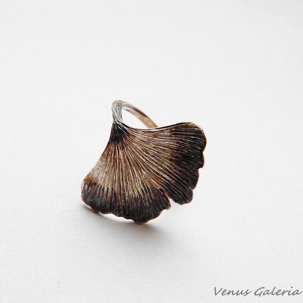 Pierścionek srebrny - Miłorząb - Sklep internetowy z biżuterią srebrną
