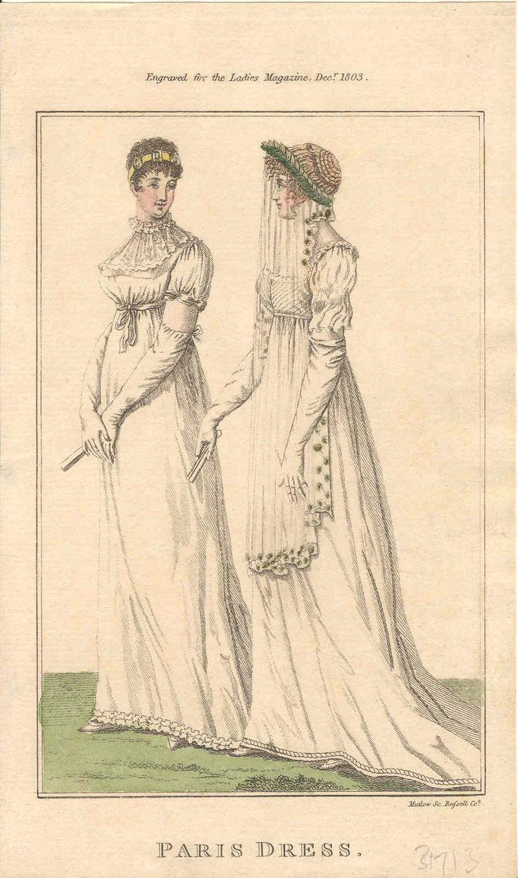 Regency fashion plate the secret dreamworld of a jane austen fan - 1803 12 December Lady S Magazine Paris Dress