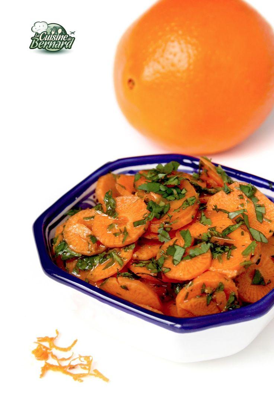 La Cuisine de Bernard : Salade Carottes Orange Coriandre