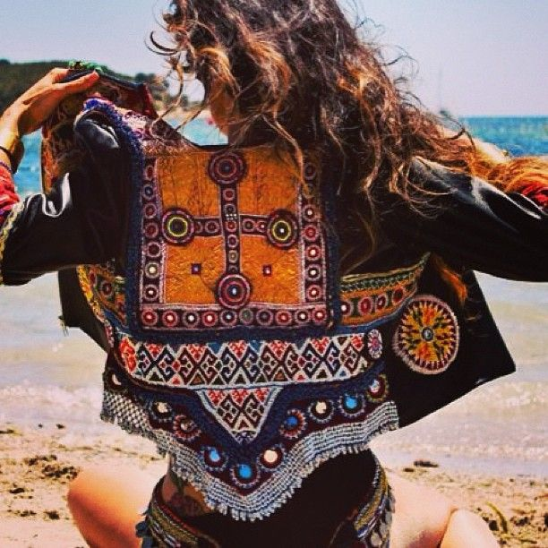 Needlework, so prominent in fine bohemian and gypsy clothing. Quilting, applique, embroidery, tatting and more.