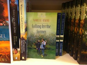 Koorong in Adelaide ~ the very first time I spotted print copies of Falling for the Farmer, my debut book, on a shelf in a book store. An exciting and memorable day!