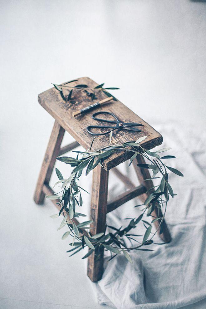 Couronne de l'avent olivier CHIARA STELLA HOME's blog