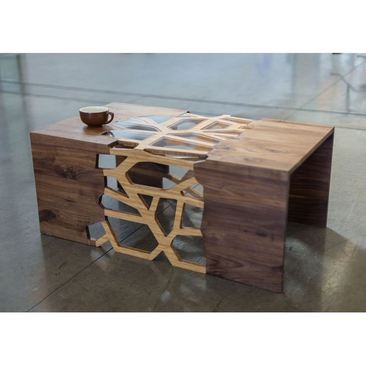Now that is a coffee table!!  Handmade Organic Wood Mosaic Coffee Table. BEAUTIFUL