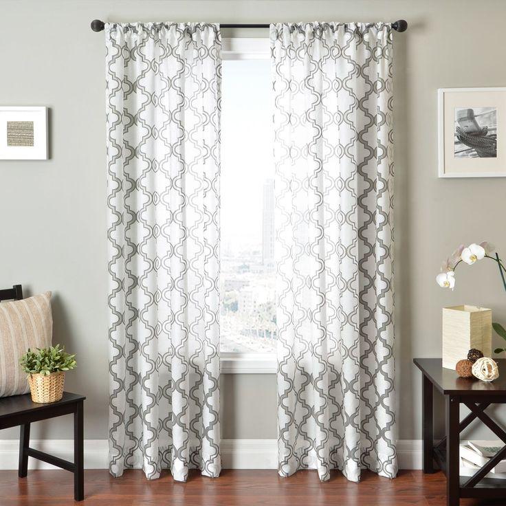 Softline Penby Burnout Rod Pocket Curtain Panel By