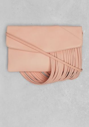 And Other Stories | Draped leather shoulder bag | Orange Yellowish Light