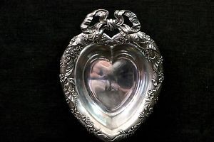 Vintage Silver Plate Reed & Barton Heart Shaped Dish