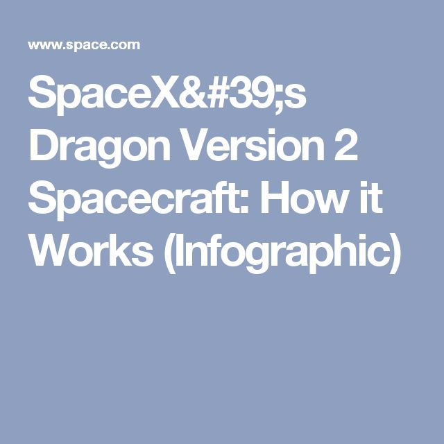 SpaceX's Dragon Version 2 Spacecraft: How it Works (Infographic)
