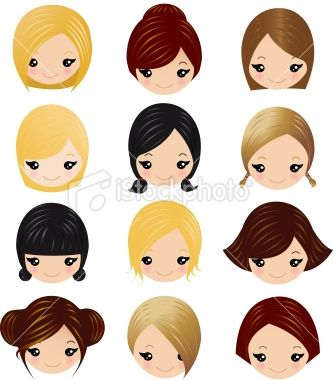 little-girls-hairstyles for Felt Dolls
