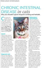 Client handout: Chronic intestinal disease in cats - Help #veterinary clients understand the importance of investigating frequent vomiting and hairballs in cats - Veterinary Medicine - dvm360