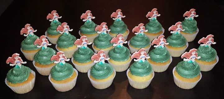 Kleine zeemeermin cupcakes