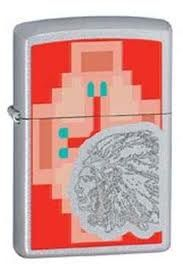 Zippo Indian Chief 28068 Tribal Chief Pixelated - $23.37 #Lighters #Zippo