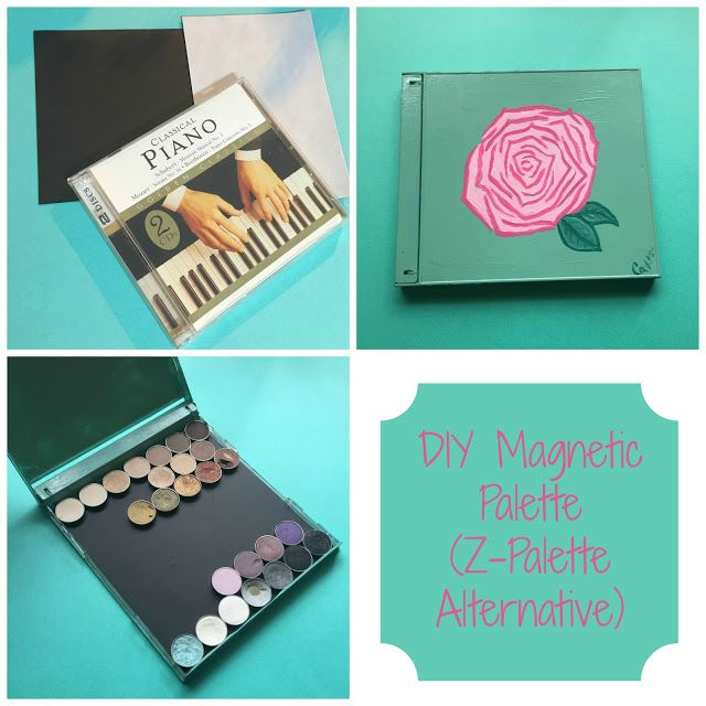 DIY Magnetic Makeup Palette (Z-Palette Alternative)
