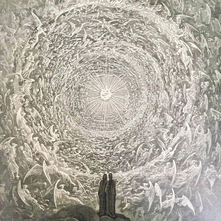 Photos by: @rictrimio  Gustav Dorè's illustrations for Dante's Paradiso 1861  #igpdore
