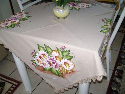 Pintura de la esquina en la tela juegos de cocina for Manteles de tela