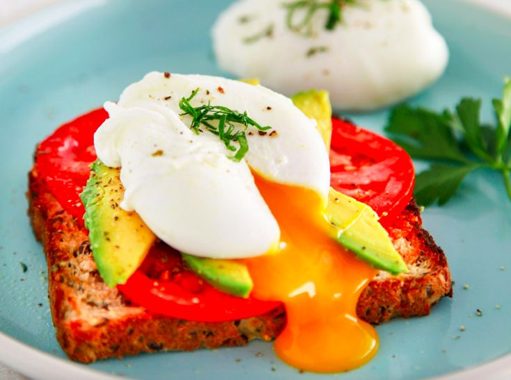 Poached Eggs with Tomato and Avocado