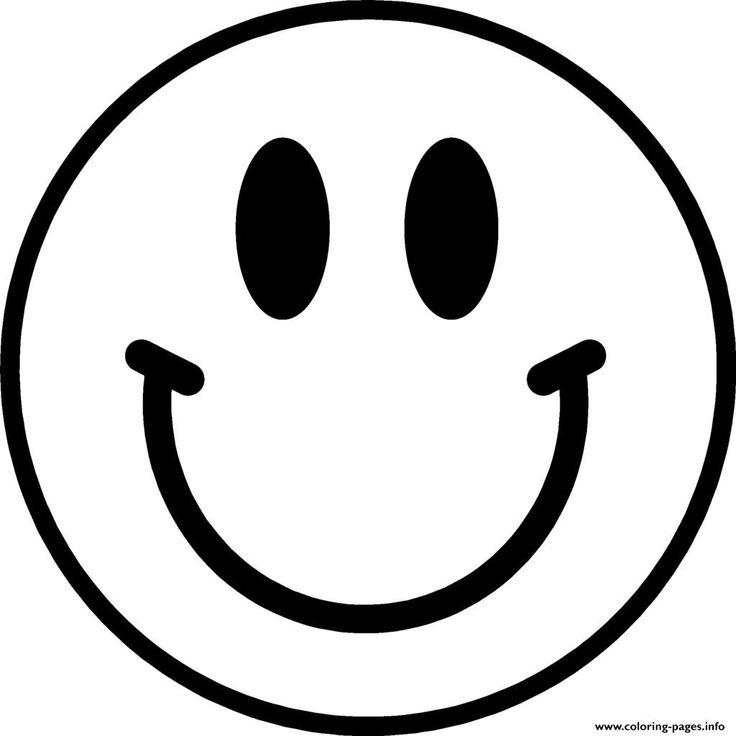 Print smile emoji coloring pages