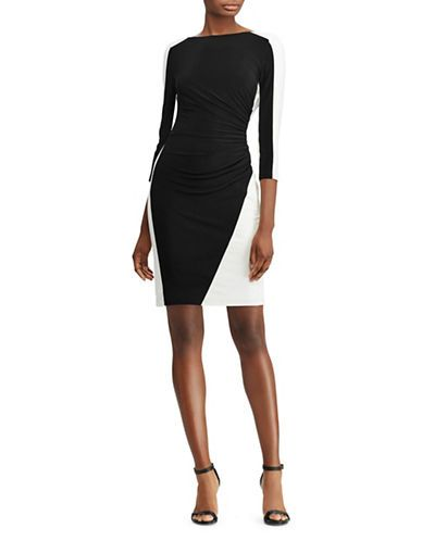 Two-Tone Ruched Jersey Dress | Hudson's Bay