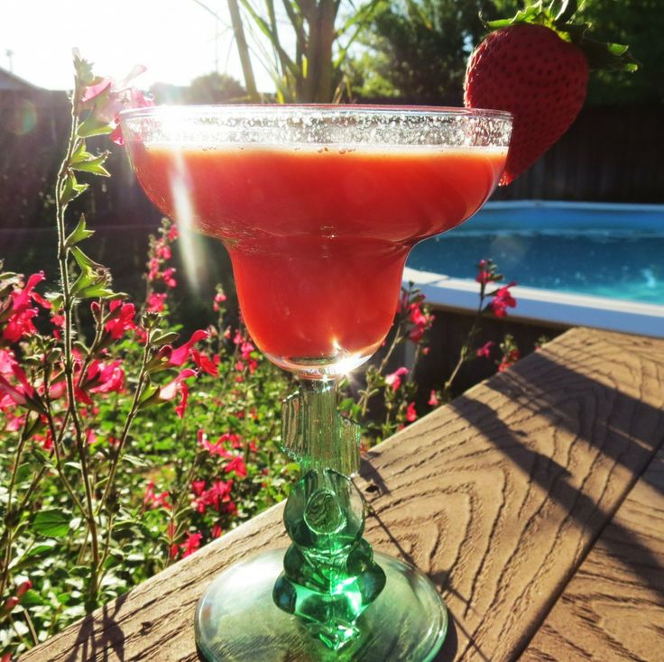 Watermelon Strawberry Lemonade - A sweet summery drink made with watermelon and strawberries.
