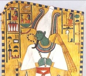 """오시리스 Osiris  그리스어로 우시르 """"Usire""""   이집트 신화에서 오시리스는 땅의 신 게브와 하늘의 신 누트의 아들.  누이 동생 이시스와 결혼. 성의 주인이자 동생 세트의 아내인 네프티스가 그의 여동생이다. 형의 지위를 노린 아우 세트 (악의신)에게 살해당했다. 세트는 오시리스를 죽인 후 그의 몸을 14조각으로 찢어 땅에 버렸다. 이시스와 네프티스 자매가 시체 조각들 발견했고 묻어주었다. 오시리스는 새 생명을 얻어서 지하세계의 통치자이자 재판관이 되었다. 이시스와 오시리스 사이에서 난 아들 호루스는 세트와 싸워서 이집트의 새로운 왕이 되었다."""