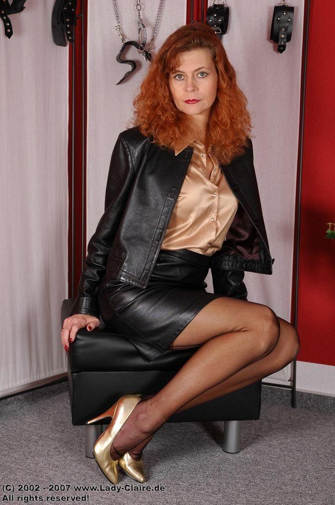 Sekretärin In Leder