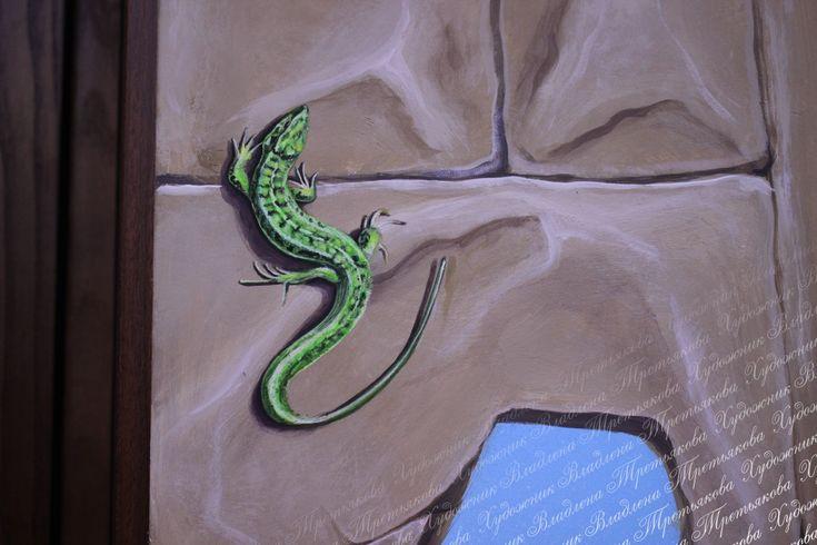 городе картинка ящерицы на стене из натурального камня встретить